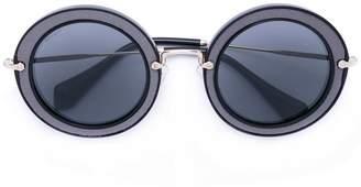 Miu Miu Noir round sunglasses