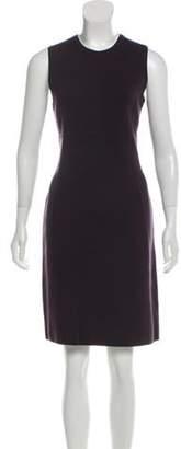 Michael Kors Merino Wool Jacquard Dress Plum Merino Wool Jacquard Dress