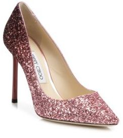 Jimmy Choo Romy 100 Glitter Degrade Point-Toe Pumps $675 thestylecure.com