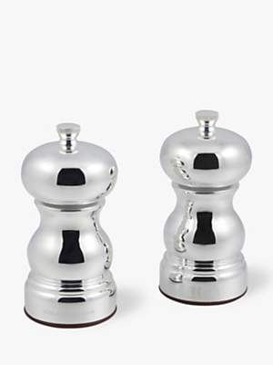 Cole & Mason Knightsbridge Stainless Steel Salt and Pepper Mill Set, Silver