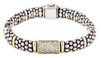 Lagos Signature Caviar Diamond Lux Bracelet