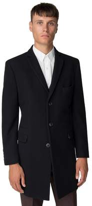 Ben Sherman Navy Melton Overcoat