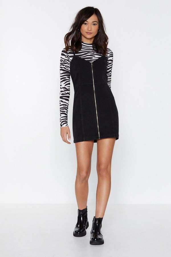 Zip Line Denim Dress