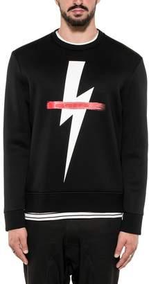 Neil Barrett Black Thunderbolt Sweatshirt