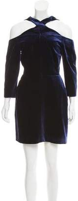 Roland Mouret Velvet Cold Shoulder Dress