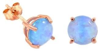 Savvy Cie 18K Rose Gold Vermeil Opal Stud Earrings