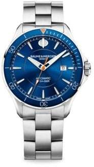 Baume & Mercier Baume& Mercier Clifton Club M0A10378 Stainless Steel Bracelet Watch - Silver Blue