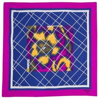 """Pariscarves Floral Silk Crepe de Chine Square """"Trails Silk Crepe de Chine Square """"Maxim's de Paris"""""""""""