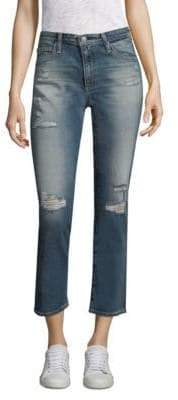 AG Jeans Isabel Distressed Cropped Jeans