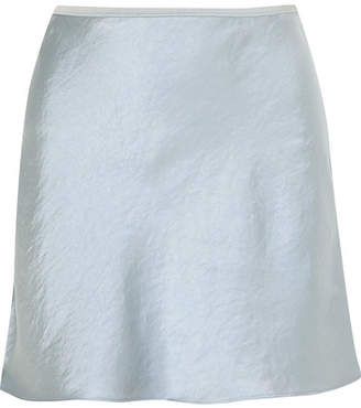Alexander Wang Crinkled-satin Mini Skirt - Light blue