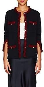 Barneys New York Women's Embellished Cashmere Cardigan - Navy