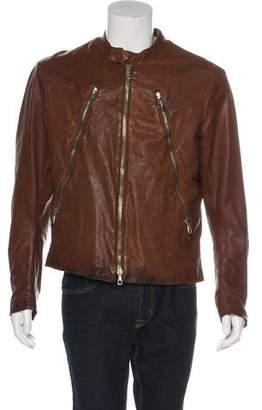 Maison Margiela 2004 Leather Five-Zip Cafe Racer Jacket