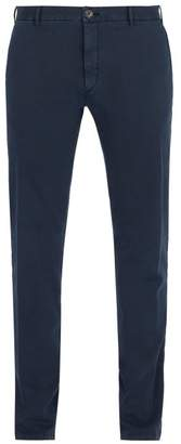 J.w.brine J.W. Brine J.w. Brine - Owen Cotton Blend Jersey Chino Trousers - Mens - Navy