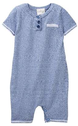 Cuddl Duds Henley Short Coverall (Baby Boys)