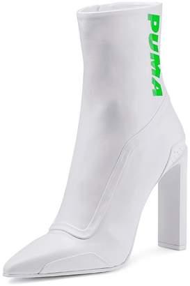 FENTY Puma x Rihanna Leather Pointed Toe Racing Booties