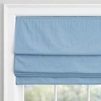 Pottery Barn Teen Washed Linen Roman Shade, 36&quot, Light Denim