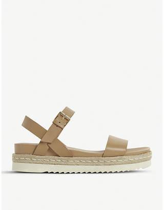 Dune Liss leather flatform sandals