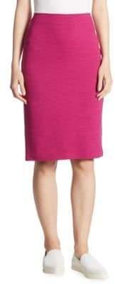 Armani Collezioni Ottoman Jersey Pencil Skirt