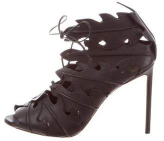 Francesco Russo Leather Caged Booties