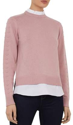 Ted Baker Lissiah Bobble Layered-Look Sweater