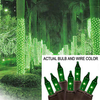 Asstd National Brand 2' X 8' Green Mini Christmas Net Style Tree TrunkWrap Lights with Brown Wire