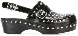 Twin-Set studded clogs $262.76 thestylecure.com
