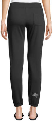Peace Love World Lace-Front Ankle-Length Logo Sweatpants