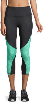 The Balance Collection Ella Mesh-Calf Colorblock Capri Leggings