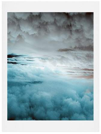 Caleb Troy Glacier Painted Clouds Art Print
