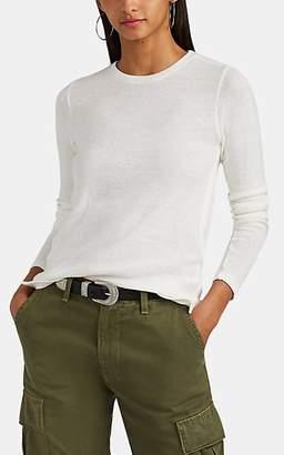 Barneys New York Women's Cashmere-Cotton Long-Sleeve T-Shirt - White