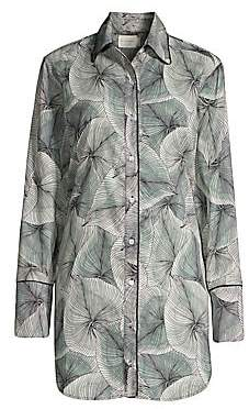 SAM. MAISON DU SOIR Women's Palm-Leaf Sleep Shirt