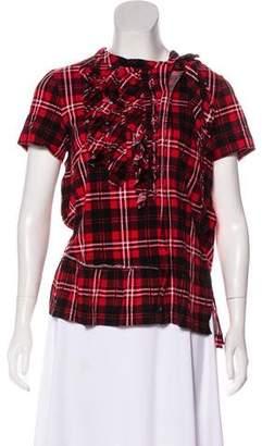 Marc Jacobs Short Sleeve Plaid T-Shirt
