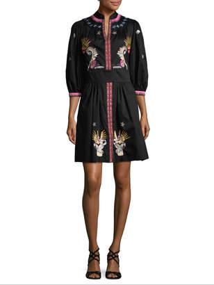 Temperley London Women's Embroidery Shirt Dress