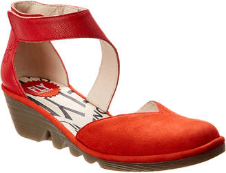 Fly London Pat Leather Wedge Sandal
