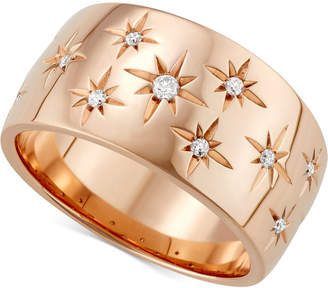 Marchesa Diamond Star Wedding Band (1/6 ct. t.w.) in 18k White Gold, Gold or Rose Gold, Created for Macy's