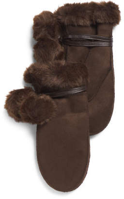 Faux Shearling Mittens