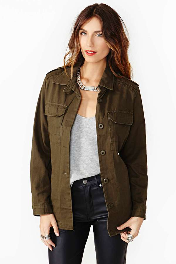 Nasty Gal At Ease Army Jacket