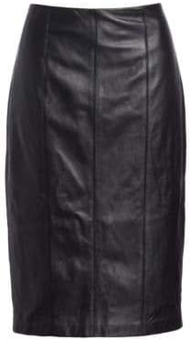Saks Fifth Avenue COLLECTION Zip Leather Pencil Skirt