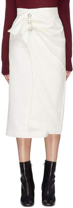 KIMHEKIM 'Venus' faux pearl button gathered drape wrap skirt