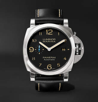 Panerai Officine Luminor Marina 1950 3 Days Acciaio 44mm Stainless Steel and Leather Watch