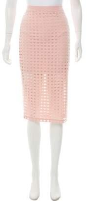 Alexander Wang Eyelet Knee-Length Skirt