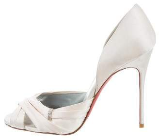 Christian Louboutin Satin D'Orsay Sandals
