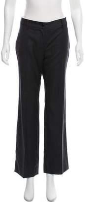 Dolce & Gabbana Wool Mid-Rise Wide-Leg Pants