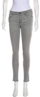 Frame Mid-Rise De Jeanne Skinny Jeans