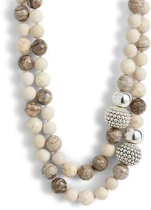Simon Sebbag Double Strand River Stone Necklace