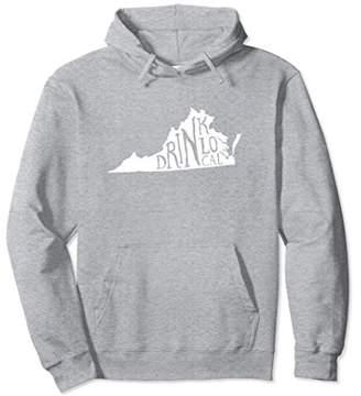 Drink Local Virginia State Outline Craft Beer Sweatshirt