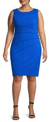 Calvin Klein Plus Ruched Sheath Dress