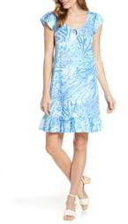 Lilly Pulitzer Rejina Ruffle Hem Shift Dress