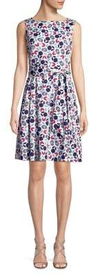 Anne Klein Geometric Fit-and-Flare Dress