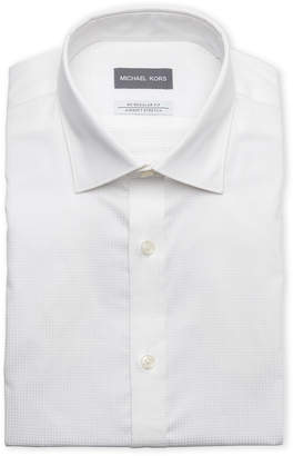 Michael Kors White Regular Fit Airsoft Stretch Dress Shirt